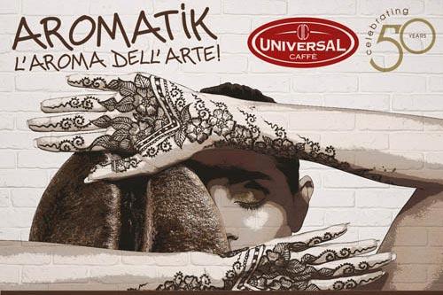 Ecco 'Aromatik', il caffè incontra l'arte per i 50 anni di Universal. Oggi la prima tappa!