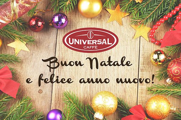 Auguri di buon Natale e felice anno nuovo da Universal Caffè