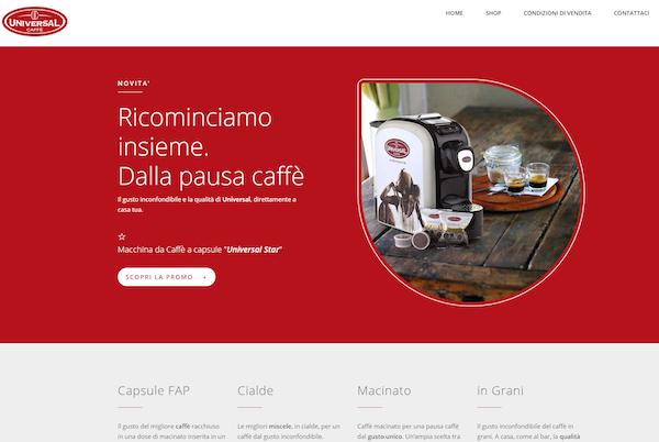 Ricevi a casa i nostri prodotti, è online l'e-shop di Universal Caffè