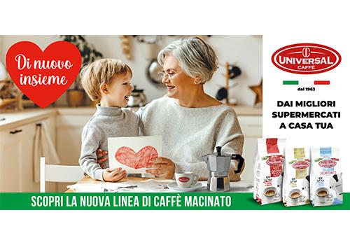 Universal Caffè lancia una linea innovativa e torna nei supermercati