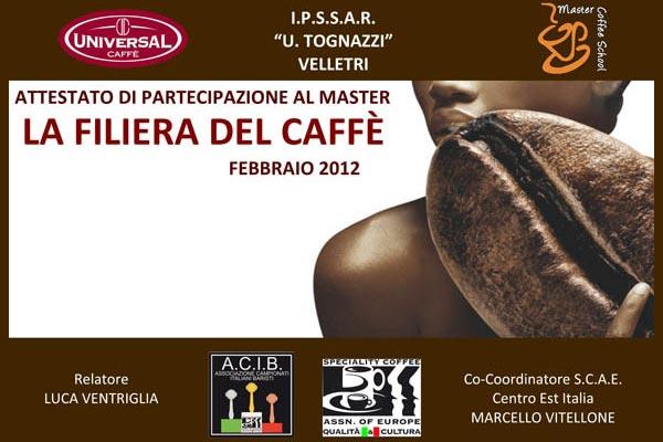 A Velletri una due giorni sul mondo del caffè organizzata da Universal